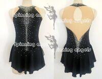 Custom Fashion Ice figure Skating Dresses Costume Girls black Spandex