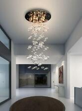 "D23.6"" x H47.3"" Murano Due Bubble Glass Chandelier Modern Ceiling Light Fixture"