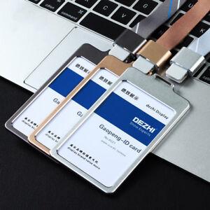 Luxury Aluminum Alloy Business Work Office Card ID Badge Lanyard Holder-LX