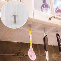 2x Transparent Strong Suction Cup Sucker Wall Hooks Hanger For Bathroom Kitchen