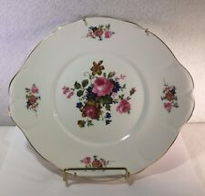 "Vinage Royal Court Fine Bone Chine Plate Enland Rose Floral  10"" Plate Hanger"