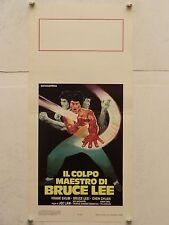 IL COLPO MAESTRO DI BRUCE LEE regia Joe Law locandina originale 1980