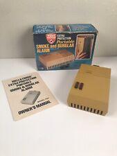 Vintage Wells Fargo Portable Smoke Burglar Alarm P5F