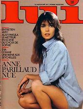 Lui n°231 04/1983 Anne Parillaud Dario Morales