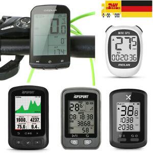 Fahrradcomputer GPS Fahrrad Tachometer Kabellos USB Kilometerzähler Radfahren DE