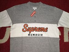 2015 SUPREME TEAM HENLEY CDG BOX LOGO JERSEY NEIL YOUNG TEE SHIRT GREY S SMALL