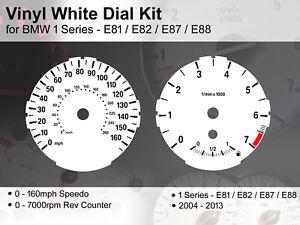 BMW 1 Series E81/E82/E87/E88 (2004 - 2013) - 160mph - Vinyl White Dial Kit