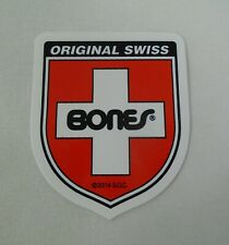 "Bones Swiss Bearings Shield 2.25"" X 1.875"" Sticker Roller Skate Derdy Skateboard"