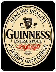 Vintage Retro GUINNESS STOUT Irish BEER Metal Bar Plaque Pub Shed Man Cave SIGN