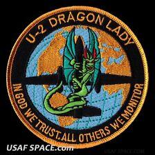 USAF AIR FORCE U-2 DRAGON LADY IN GOD WE TRUST OTHERS WE MONITOR SPY PLANE PATCH