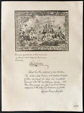 1926 - Lithographie citation Mr Robert Lansing, Mr Charles Evans Hughes.