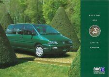 Peugeot 806 Roland Garros 1.9TD Limited Edition 1997 UK Market Sales Brochure
