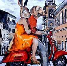 GILLIE AND MARC-direct from the artists-authentic artistic print travel vespa