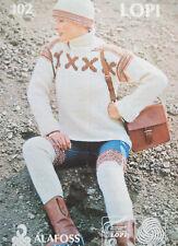 Ladies Polo neck JUMPER HAT LEG WARMERS KNITTING PATTERN Aran 36 - 40 in sweater