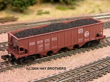 3-pack of Hay Bros COAL LOADS - Fits BOWSER 40 foot 4-Bay (H21/H21a) Hopper Cars