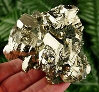 Top Quality Pyrite , Fool's Gold from Borieva Mine, Madan, Bulgaria, Crystal