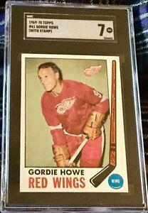 1969-70 Topps #61 Gordie Howe (HOF) Detroit Red Wings - SGC 7 NM Awesome!!