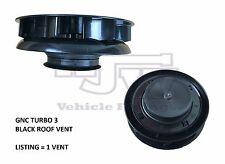 Rotary Wind Driven BLACK Roof Vent Vans Trucks Horseboxes 4x4 Low Profile Turbo3