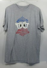 new Fgc Gray Blue/Red/White Glasses T-shirt L *