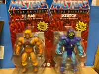 2020 Masters of the Universe Origins He-Man and Skeletor Brand New Fast Shipping