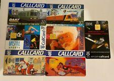 Ireland Phonecards - 7 x Dart Trains Christmas Aladdin Ibm Sports