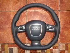 Audi s line a3 a4 a5 a6 a8 q5 q7 s4 abajo aplanada volante de cuero