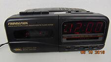 Funky Vintage Soundesign 7569BLK Clock Radio Alarm Cassette Telephone