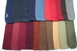 LOT OF 20 TRUNK TIES KNITTED VARIOUS COLORS SOLID. F4344