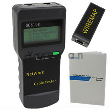 Hot LCD Wireless Network Tester Meter LAN Phone Cable Tester LCD Display RJ45