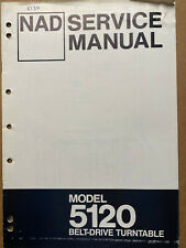 Original Service Manual for the NAD 5120 Turntable ~ Repair