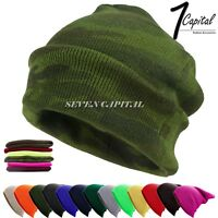 Men Women Winter Warm Cuff Plain Beanie Knit Hat Skull Slouchy Ski Outdoor Cap