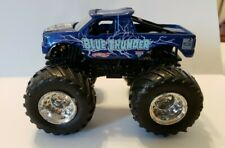 nice Hot Wheels MONSTER JAM 1:64 DARK BLUE THUNDER TRUCK