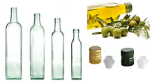 Nr 100 bottiglie marasca  500 ml vetro trasparente completo tappo salva goccia