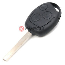 3 Button Remote Key Fob 433MHz W/ Chip 4D60 for Ford Fiesta Uncut HU101 Blade
