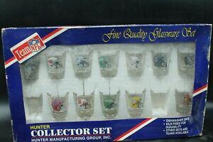 Hunter 12 Shot Glass Collector Set NFL Packers, Eagles, Patriots, Etc.