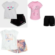 New Nike Little Girls 2-Pc. Shirt & Shorts Set Choose Size and Color MSRP $36
