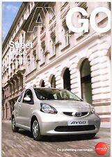 Toyota Aygo 2008 UK Market Sales Brochure 1.0 VVTi + Platinum Blue