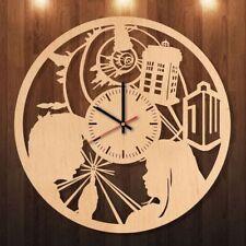 Doctor Who Wooden Handmande Clock Tardis Wood Watches