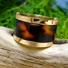 Leopard Print Gold Band Stainless Steel Ring