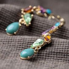 Earring Women For Long Alloy New Fashion Jewelry Multicolor Crystal Earrings