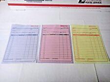 3 Part Sales Order Books Receipt Triplicate forms 30 sets Invoice US Seller