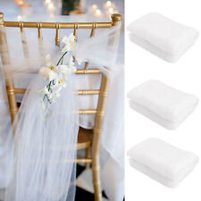 White Organza Chair Cover Sashes Bow For Wedding Birthday Party Decor#