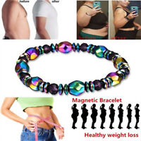 1x Hematite Stone Therapy Health Care Magnet Hematite Beads Bracelet Weight Loss