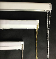 Cassette Roman Blind Complete DIY Kit Chrome White Brass Black Chain Heavy Duty