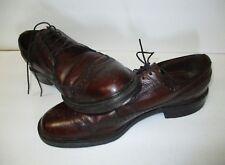 Men's Vintage SEARS Easy-Flex Cordovan WingtipLeather Oxfords-Size 9.5B