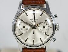 Vintage Heuer Carrera Chronograph Stainless Steel Manual Wristwatch