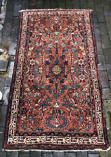 Vintage Shabby Chic Worn Boho Hand-knotted Carpet / Rug 100% Wool (6.5' x 3.5')