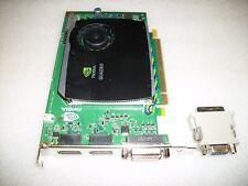 Dual Monitor Dell NVIDIA Quadro FX580 DDR3 512MB Video Graphic Card PCI-E Win 10
