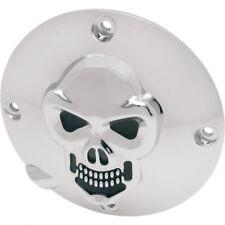 Derby cover skull chrome - Drag specialties 33-0063