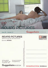 MOVING PICTURES AT THE GUGGENHEIM UNUSED ADVERTISING COLOUR POSTCARD